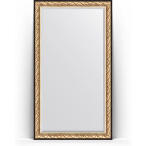 Зеркало напольное с фацетом Evoform Exclusive Floor 115x205 см, в багетной раме - барокко золото 106 мм (BY 6173) зеркало с фацетом в багетной раме поворотное evoform exclusive 80x170 см барокко золото 106 мм by 1311