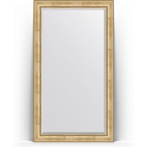 Зеркало напольное с фацетом Evoform Exclusive Floor 117x207 см, в багетной раме - состаренное серебро с орнаментом 120 мм (BY 6178) зеркало evoform exclusive g floor 207х87 состаренное серебро с орнаментом