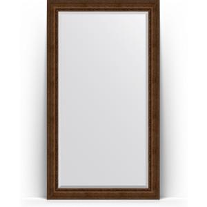 Зеркало напольное с фацетом Evoform Exclusive Floor 117x207 см, в багетной раме - состаренная бронза с орнаментом 120 мм (BY 6179) цена
