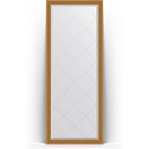 Зеркало напольное с гравировкой Evoform Exclusive-G Floor 78x198 см, в багетной раме - состаренное золото с плетением 70 мм (BY 6301) зеркало evoform exclusive g 86х63 состаренное золото с плетением