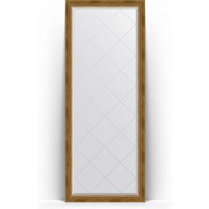Фото - Зеркало напольное с гравировкой Evoform Exclusive-G Floor 78x198 см, в багетной раме - состаренная бронза с плетением 70 мм (BY 6303) зеркало с гравировкой поворотное evoform exclusive g 93x168 см в багетной раме состаренная бронза с плетением 70 мм by 4391