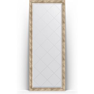 Зеркало напольное с гравировкой Evoform Exclusive-G Floor 78x198 см, в багетной раме - прованс плетением 70 мм (BY 6304)
