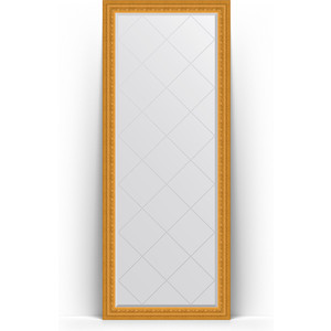 Зеркало напольное с гравировкой Evoform Exclusive-G Floor 80x199 см, в багетной раме - сусальное золото 80 мм (BY 6309) цена