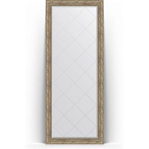 Зеркало напольное с гравировкой Evoform Exclusive-G Floor 80x200 см, в багетной раме - виньетка античное серебро 85 мм (BY 6313)