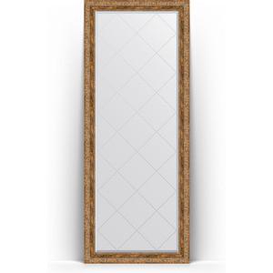 Зеркало напольное с гравировкой Evoform Exclusive-G Floor 80x200 см, в багетной раме - виньетка античная бронза 85 мм (BY 6314)