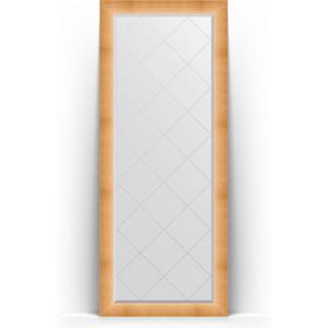 Зеркало напольное с гравировкой Evoform Exclusive-G Floor 81x201 см, в багетной раме - травленое золото 87 мм (BY 6316)