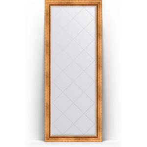 Зеркало напольное с гравировкой Evoform Exclusive-G Floor 81x201 см, в багетной раме - римское золото 88 мм (BY 6317) зеркало напольное с фацетом поворотное evoform exclusive floor 81x201 см в багетной раме римское серебро 88 мм by 6118