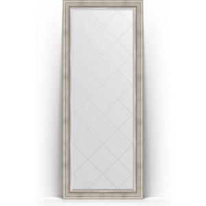 Зеркало напольное с гравировкой Evoform Exclusive-G Floor 81x201 см, в багетной раме - римское серебро 88 мм (BY 6318) зеркало evoform exclusive g 186х131 римское серебро