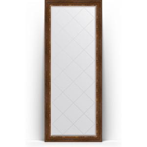 Зеркало напольное с гравировкой Evoform Exclusive-G Floor 81x201 см, в багетной раме - римская бронза 88 мм (BY 6319)