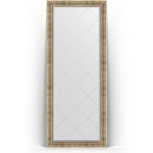 Зеркало напольное с гравировкой Evoform Exclusive-G Floor 82x202 см, в багетной раме - серебряный акведук 93 мм (BY 6321)