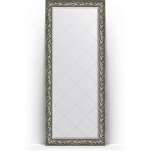 Зеркало напольное с гравировкой Evoform Exclusive-G Floor 84x203 см, в багетной раме - византия серебро 99 мм (BY 6325)