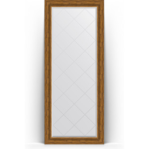Зеркало напольное с гравировкой Evoform Exclusive-G Floor 84x204 см, в багетной раме - травленая бронза 99 мм (BY 6329) фото