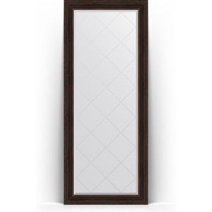 Зеркало напольное с гравировкой Evoform Exclusive-G Floor 84x204 см, в багетной раме - темный прованс 99 мм (BY 6330)