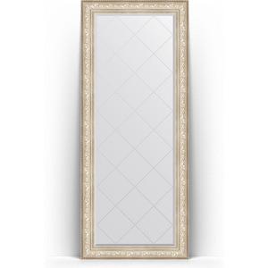 Зеркало напольное с гравировкой Evoform Exclusive-G Floor 85x205 см, в багетной раме - виньетка серебро 109 мм (BY 6336) зеркало напольное с фацетом evoform exclusive floor 85x205 см в багетной раме виньетка состаренная бронза 109 мм by 6137