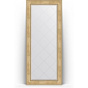 Зеркало напольное с гравировкой Evoform Exclusive-G Floor 87x207 см, в багетной раме - состаренное серебро с орнаментом 120 мм (BY 6338) зеркало evoform exclusive g floor 207х87 состаренное серебро с орнаментом