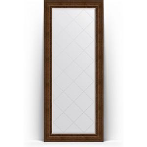 Зеркало напольное с гравировкой Evoform Exclusive-G Floor 87x207 см, в багетной раме - состаренная бронза с орнаментом 120 мм (BY 6339) evoform exclusive g floor 87x207 см в багетной раме состаренное дерево с орнаментом 120 мм by 6340