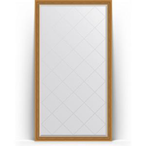 Зеркало напольное с гравировкой Evoform Exclusive-G Floor 108x198 см, в багетной раме - состаренное золото с плетением 70 мм (BY 6341) зеркало evoform exclusive g floor 198х78 состаренное золото с плетением