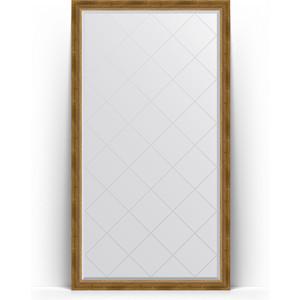 Фото - Зеркало напольное с гравировкой Evoform Exclusive-G Floor 108x198 см, в багетной раме - состаренная бронза с плетением 70 мм (BY 6343) зеркало с гравировкой поворотное evoform exclusive g 93x168 см в багетной раме состаренная бронза с плетением 70 мм by 4391