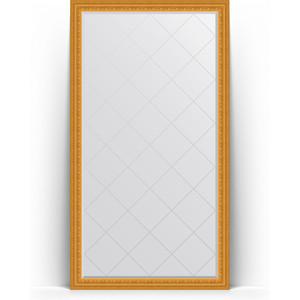 Зеркало напольное с гравировкой Evoform Exclusive-G Floor 110x199 см, в багетной раме - сусальное золото 80 мм (BY 6349) зеркало с гравировкой поворотное evoform exclusive g 130x184 см в багетной раме сусальное золото 80 мм by 4482