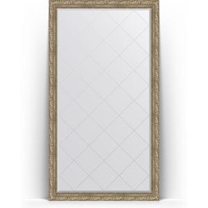 Зеркало напольное с гравировкой поворотное Evoform Exclusive-G Floor 110x200 см, в багетной раме - виньетка античное серебро 85 мм (BY 6353) зеркало с гравировкой поворотное evoform exclusive g 95x120 см в багетной раме виньетка античное серебро 85 мм by 4358