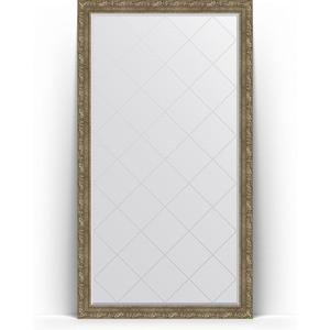 Зеркало напольное с гравировкой Evoform Exclusive-G Floor 110x200 см, в багетной раме - виньетка античная латунь 85 мм (BY 6355)