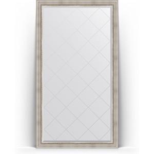 Зеркало напольное с гравировкой Evoform Exclusive-G Floor 111x201 см, в багетной раме - римское серебро 88 мм (BY 6358)
