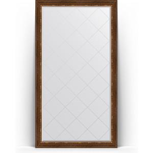 Зеркало напольное с гравировкой Evoform Exclusive-G Floor 111x201 см, в багетной раме - римская бронза 88 мм (BY 6359)