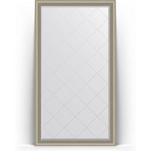 Зеркало напольное с гравировкой Evoform Exclusive-G Floor 111x201 см, в багетной раме - хамелеон 88 мм (BY 6360)