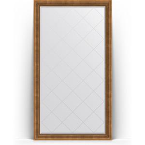 Зеркало напольное с гравировкой Evoform Exclusive-G Floor 112x202 см, в багетной раме - бронзовый акведук 93 мм (BY 6362)