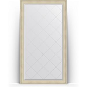 Зеркало напольное с гравировкой поворотное Evoform Exclusive-G Floor 113x203 см, в багетной раме - травленое серебро 95 мм (BY 6363)