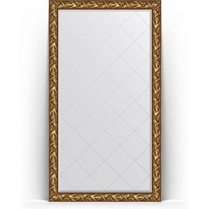 Зеркало напольное с гравировкой Evoform Exclusive-G Floor 114x203 см, в багетной раме - византия золото 99 мм (BY 6364)