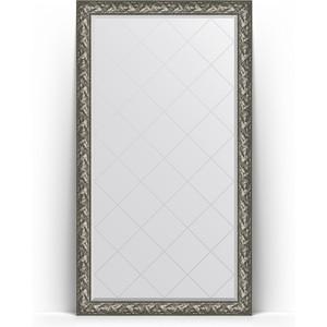 Зеркало напольное с гравировкой Evoform Exclusive-G Floor 114x203 см, в багетной раме - византия серебро 99 мм (BY 6365)