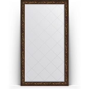 Зеркало напольное с гравировкой Evoform Exclusive-G Floor 114x203 см, в багетной раме - византия бронза 99 мм (BY 6366)