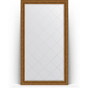 Зеркало напольное с гравировкой Evoform Exclusive-G Floor 114x204 см, в багетной раме - травленая бронза 99 мм (BY 6369) фото