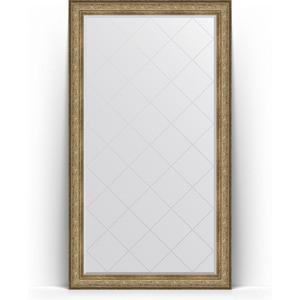 Зеркало напольное с гравировкой Evoform Exclusive-G Floor 115x205 см, в багетной раме - виньетка античная бронза 109 мм (BY 6375)