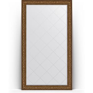 Зеркало напольное с гравировкой Evoform Exclusive-G Floor 115x205 см, в багетной раме - виньетка состаренная бронза 109 мм (BY 6377)