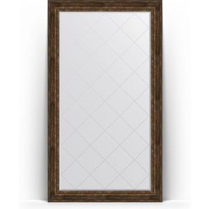 Зеркало напольное с гравировкой Evoform Exclusive-G Floor 117x207 см, в багетной раме - состаренное дерево с орнаментом 120 мм (BY 6380) цены