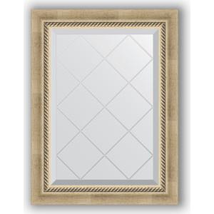 Зеркало с гравировкой поворотное Evoform Exclusive-G 53x71 см, в багетной раме - состаренное серебро с плетением 70 мм (BY 4003) зеркало evoform exclusive g 128х73 состаренное серебро с плетением