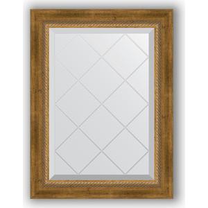 Фото - Зеркало с гравировкой поворотное Evoform Exclusive-G 53x71 см, в багетной раме - состаренная бронза с плетением 70 мм (BY 4004) зеркало с гравировкой поворотное evoform exclusive g 93x168 см в багетной раме состаренная бронза с плетением 70 мм by 4391