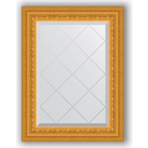 Зеркало с гравировкой поворотное Evoform Exclusive-G 55x72 см, в багетной раме - сусальное золото 80 мм (BY 4009)