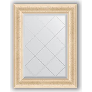 Зеркало с гравировкой поворотное Evoform Exclusive-G 55x72 см, в багетной раме - старый гипс 82 мм (BY 4011)