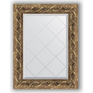 Зеркало с гравировкой поворотное Evoform Exclusive-G 56x73 см, в багетной раме - фреска 84 мм (BY 4012) зеркало с гравировкой поворотное evoform exclusive g 96x121 см в багетной раме фреска 84 мм by 4356