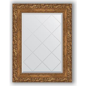 Зеркало с гравировкой поворотное Evoform Exclusive-G 55x72 см, в багетной раме - виньетка бронзовая 85 мм (BY 4013)