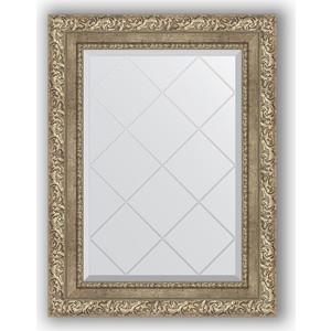 Зеркало с гравировкой поворотное Evoform Exclusive-G 55x72 см, в багетной раме - виньетка античное серебро 85 мм (BY 4014) зеркало с гравировкой поворотное evoform exclusive g 95x120 см в багетной раме виньетка античное серебро 85 мм by 4358
