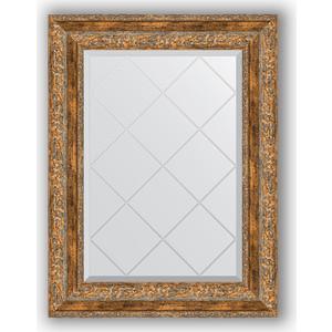 Зеркало с гравировкой поворотное Evoform Exclusive-G 55x72 см, в багетной раме - виньетка античная бронза 85 мм (BY 4015)