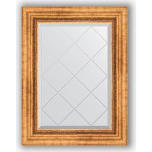 Зеркало с гравировкой поворотное Evoform Exclusive-G 56x74 см, в багетной раме - римское золото 88 мм (BY 4017) зеркало с гравировкой поворотное evoform exclusive g 56x74 см в багетной раме римское золото 88 мм by 4017