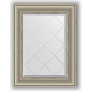 Зеркало с гравировкой поворотное Evoform Exclusive-G 56x74 см, в багетной раме - хамелеон 88 мм (BY 4020) зеркало с гравировкой поворотное evoform exclusive g 56x74 см в багетной раме римское золото 88 мм by 4017