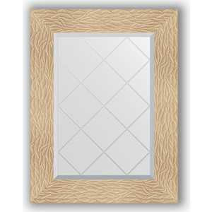 Зеркало с гравировкой поворотное Evoform Exclusive-G 56x74 см, в багетной раме - золотые дюны 90 мм (BY 4021)