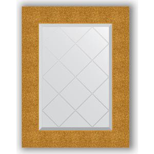 Зеркало с гравировкой поворотное Evoform Exclusive-G 56x74 см, в багетной раме - чеканка золотая 90 мм (BY 4022)