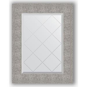 Зеркало с гравировкой поворотное Evoform Exclusive-G 56x74 см, в багетной раме - чеканка серебряная 90 мм (BY 4023)